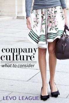 Company culture considerations