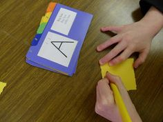 OT Tools for Public Schools: Handwriting Without Tears fun, make letter formation cards out of the charts and tabbed index cards Preschool Literacy, Kindergarten Writing, Teaching Writing, Teaching Ideas, Teaching Resources, Kindergarten Blogs, Teaching Boys, Early Literacy, Preschool Ideas