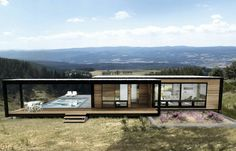 Container House - Top 20 Best Shipping Container Home Designs - Who Else Wants Simple Step-By-Step Plans To Design And Build A Container Home From Scratch? Modern Prefab Homes, Prefabricated Houses, Modular Homes, Prefab Homes Canada, Modern Mobile Homes, Modern Cabins, Prefab Cabins, Shipping Container Home Designs, Container House Design