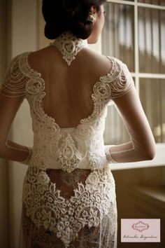 simply perfection back detail kebaya