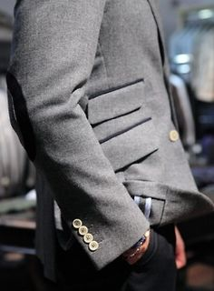 wool, no lining, elbow patches, ticket pocket ~ the devil is in the details