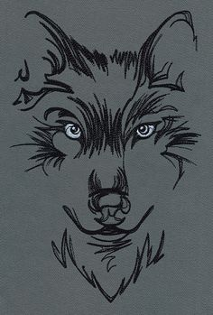 Watching Wolf | Urban Threads: Unique and Awesome Embroidery Designs