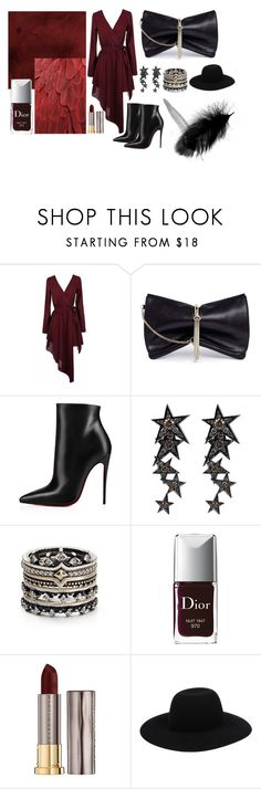 """""""red for friday"""" by mineizm7 on Polyvore featuring moda, Jimmy Choo, Christian Louboutin, Luis Miguel Howard, Kendra Scott, Christian Dior ve Urban Decay"""