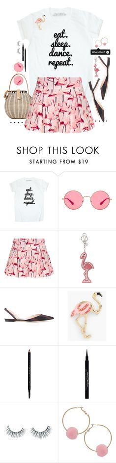 """T-Shirt   Shorts."" by s-elle ❤ liked on Polyvore featuring Ray-Ban, RED Valentino, Miu Miu, Nina Ricci, Talbots, Gucci, Givenchy, Unicorn Lashes, Humble Chic and flats"