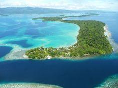 Aerial view of Uepi Island Resort