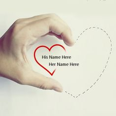 Get your name in beautiful style on Hand Heart picture. You can write your name on beautiful collection of Love pics. Personalize your name in a simple fast way. You will really enjoy it.