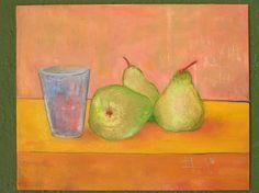 pears / oil,canvasboard A4