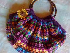 Crochet Tote, Crochet Blocks, Crochet Handbags, Crochet Purses, Knit Crochet, Crochet Patterns, Yarn Projects, Crochet Projects, Granny Square Bag