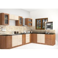 Kaffir L - Shaped Kitchen with Laminate Finish