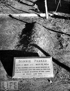 Bonnie Parker (1910-1934) Bank Robber. 1/2 of Bonnie And Clyde Grave Location: Crown Hill Memorial Park Dallas Texas