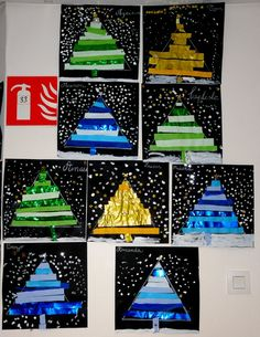 Le Journal de Chrys: Sapins de Noël New Year's Crafts, Crafts For Kids, Arts And Crafts, Noel Christmas, Christmas Crafts, Colorful Christmas Tree, Theme Noel, Craft Day, Winter Fun