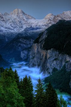 Lauterbrunnen Valley - early morning, Wengen, Switzerland