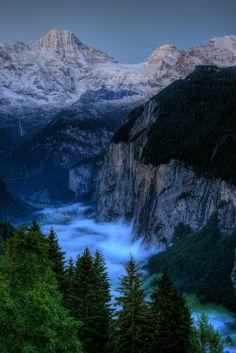 Lauterbrunnen Valley - early morning, Wengen, Switzerland