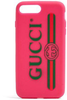 7549bb854 GUCCI Logo iPhone® 7 Plus case Home Logo, Pink Plastic, Iphone Accessories,