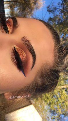 Idée Maquillage Braunorange - Make Up Ideen - Eye-Makeup Cute Makeup, Gorgeous Makeup, Pretty Makeup, Flawless Makeup, Unique Makeup, Makeup Goals, Makeup Inspo, Makeup Inspiration, Makeup Ideas