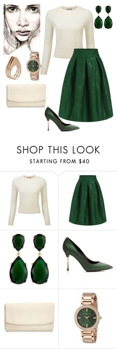 """Hope."" by gatocat ❤ liked on Polyvore featuring Pure Collection, Kenneth Jay Lane, Nicholas Kirkwood, Lauren Merkin and Ludevine"