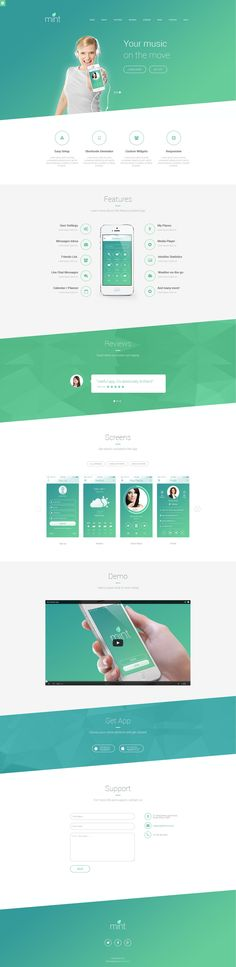 Delicious - Responsive App Landing WordPress Theme #design
