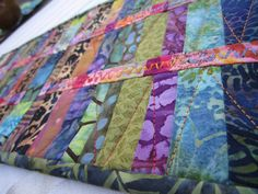 Colorful Decorative Table Runner Quilt  by DebraHarryArtQuilts, $40.00