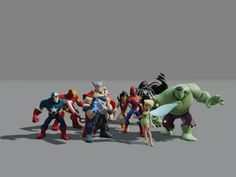 Here are a bunch of characters I animated on Disney Infinity 1 and 2.  This is predominantly combat animation.    Mostly this is a collection of playblasts from…