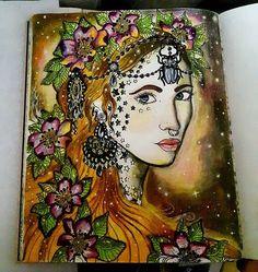 done #sommarnatt #hannakarlzon #dagdrömmar #color #colors #coloringbook…
