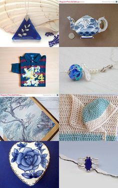 Blue line by Anat on Etsy--Pinned with TreasuryPin.com