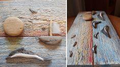 Wakacyjny obraz z delfinami Blog, Handmade, Driftwood, Hand Made, Blogging, Drift Wood, Handarbeit