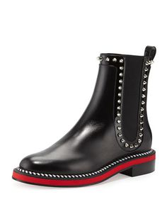 Nothing Hill Red Sole Boot, Black by Christian Louboutin at Neiman Marcus.