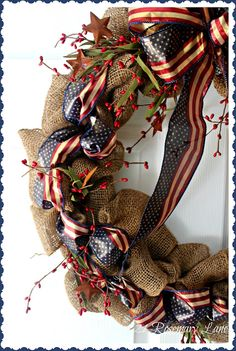 21 Rosemary Lane: Patriotic Burlap Wreath