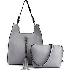 New Trending Purses: JOYSON Women Handbags PU Leather Cross-body Shoulder Bags Tassel 2pcs Set Gray. JOYSON Women Handbags PU Leather Cross-body Shoulder Bags Tassel 2pcs Set Gray   Special Offer: $29.99      366 Reviews There is a removable and adjustable shoulder strap.Classic and iconic pattern will never be out of style.It is sturdy and comfortable, perfect for almost any...