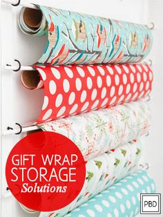 Gift Wrap Storage Solutions | Progression By Design