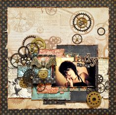 Steampunk - Scrapbook.com Graphic 45, Scrapbooking Layouts, Scrapbook Cards, Steampunk Crafts, Quilling Craft, Distressed Painting, General Crafts, Arts And Crafts Projects, Altered Art