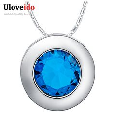 Find More Pendants Information about Cheap Free Shipping High Quality Necklaces Pendants Trendy Round Men Women Silver Jewelry Dark Bule Best Selling Zircons N1102,High Quality jewelry bear,China jewelry skin Suppliers, Cheap jewelry scissors from ULOVE Fashion Jewelry on Aliexpress.com