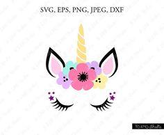 Unicorn SVG Unicorn head Svg Unicorn Clip Art Unicorn Face