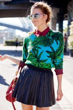 love paradise prints on winterwear. summatime all year long! via Pineapple Ice