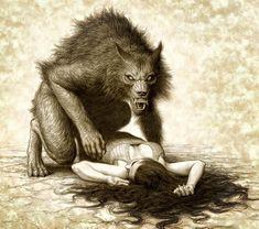 """""""Werewolf"""" Artist Miles Teves."""