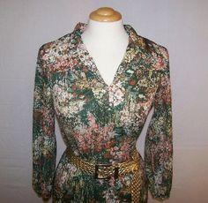 Vintage Twinset Blouse Skirt Fall Fashion by PinkCheetahVintage