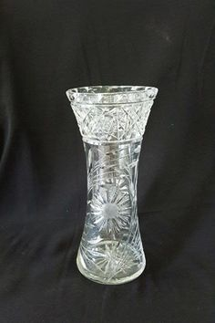 "Antique ABP American Brilliant Period Lead Crystal Double Star of David Tall 10""…"