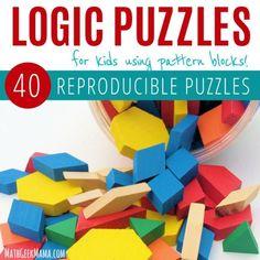 Pattern Block Logic Puzzles