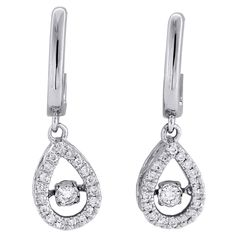 Jewelry For Less White Gold Real Dancing Diamond Danglers Oval Frame Earrings Statement Earrings, Diamond Earrings, Drop Earrings, Best Diamond, Diamond Cuts, Round Diamonds, Natural Diamonds, Oval Frame, Diamond Clarity