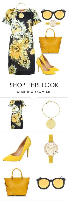 """Sunflowers"" by monicanne ❤ liked on Polyvore featuring N°21, Vince Camuto, Charles by Charles David, Orla Kiely and Accessorize"
