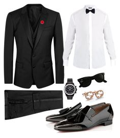 Black tie event by stephen-christopher on Polyvore featuring polyvore, Dolce&Gabbana, Ike Behar, hook + Albert, Ray-Ban, Mad Collections, Christian Louboutin, men's fashion, menswear and clothing