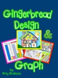 Gingerbread House Math - Design & Graph-fun learning for K-1!