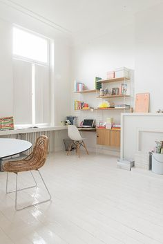 Great office shelving, Scandinavian house in Ghent on Woonblog