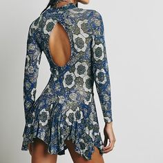 "NWT Free People Annabelle Tunic New with tags, size small. Color is called ""cobalt combo."" Shoulder to hem is 32 inches, can be worn as a dress if you are on the short side or a tunic if you are tall like me :) Free People Dresses"