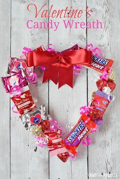 Valenttine's Candy Wreath