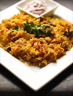 My favourite food in the world...biryani!  This chicken biryani looks amazing and as soon as I up my Indian spices game this will be mine :D