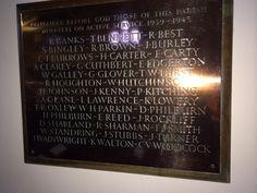 Ardsley WW2 memorial plaque