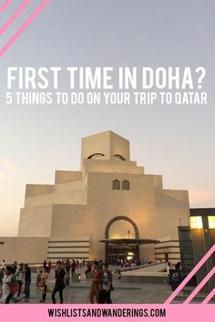 READ First time in Doha? From shopping to sandboarding, food and desert trips, there is a lot to see and do. Walk along the Corniche, visit Souq Waqif or the Museum of Islamic Art, go dune bashing or explore West Bay. Click through for tips on what to do on your holiday and travels in and around Doha, Qatar's capital city.