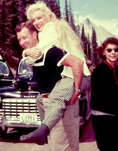 """Marilyn and Allan """"Whitey"""" Snyder on the set of """"River of No Return"""", 1953."""