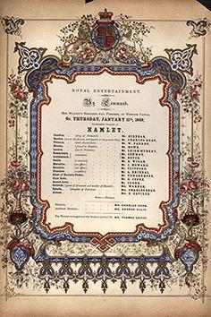 Folheto de 1849 mostra programa de 'Hamlet' (Crédito: Hulton Archive/Getty Images)